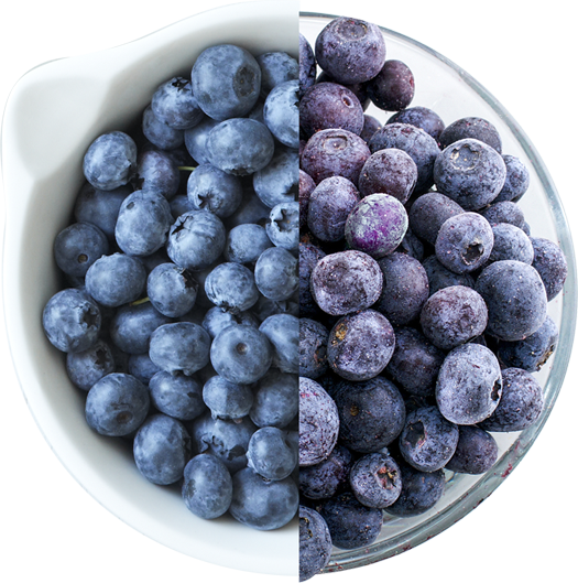 fresh or frozen blueberries