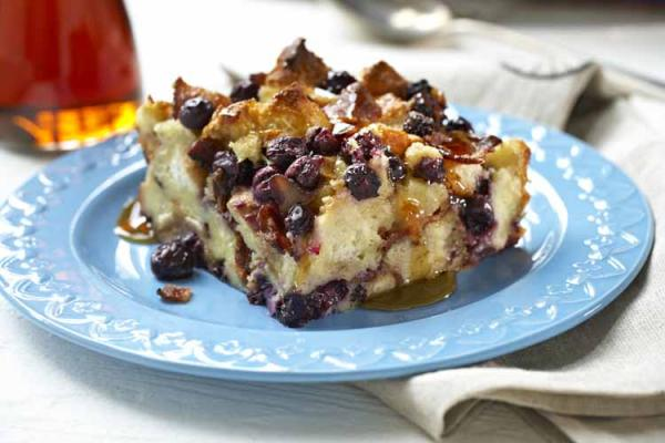 BC blueberry bread pudding