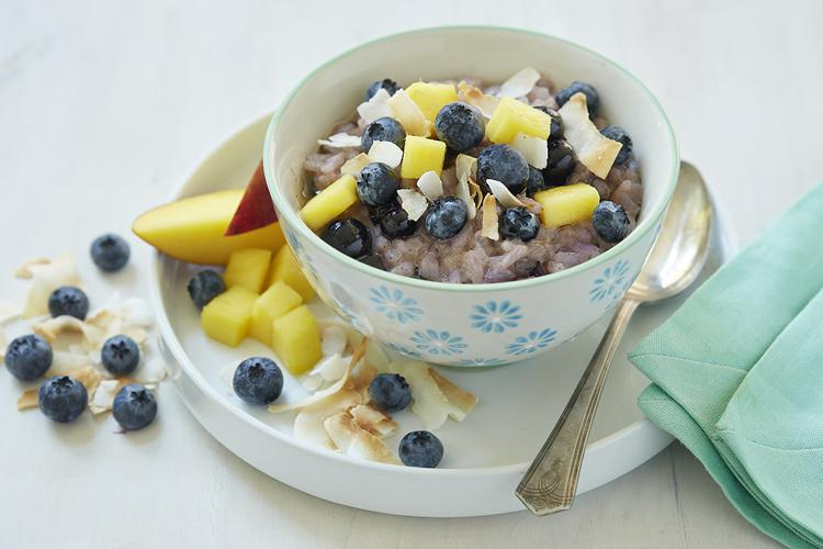 Blueberry Chai Spice Rice Pudding