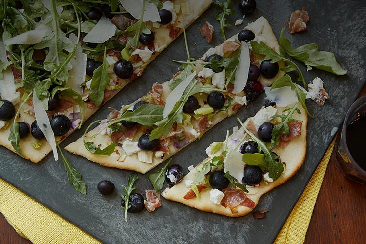 Blueberry Prosciutto Goat Cheese Flatbread