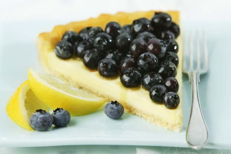 Lemony Blueberry Cheese Tart