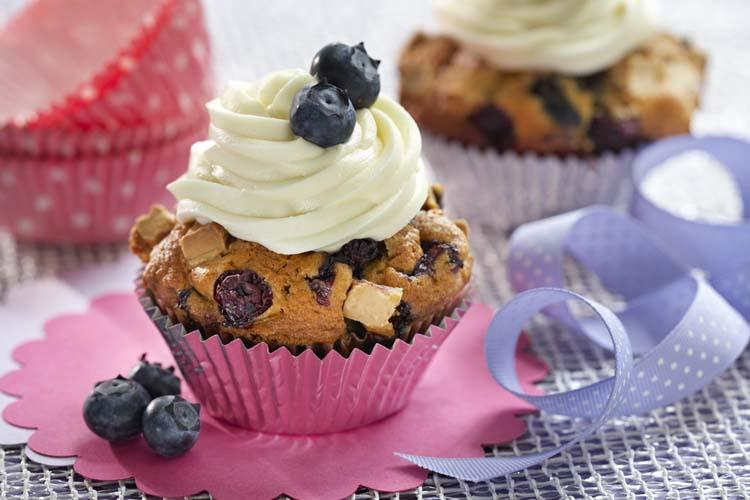 Blueberry White Chocolate Gluten-Free Cupcakes