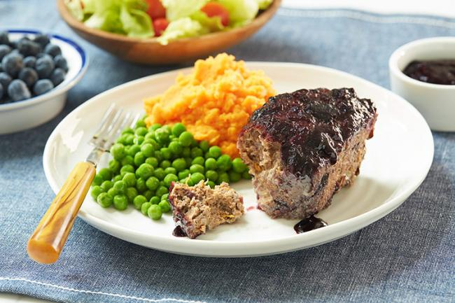 Mini Beef Blueberry and Lentil Meatloaf