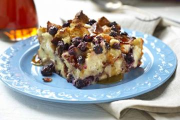 Blueberry Bacon Bread Pudding