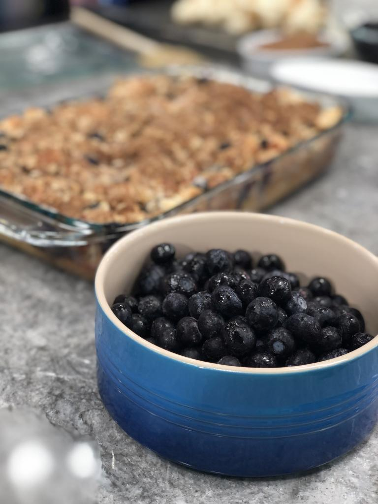 Overnight BC Blueberry Streusel French Toast Bake with BC Blueberry Maple Syrup