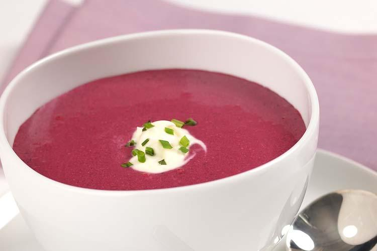 Warm Blueberry Bisque