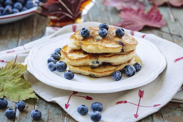 Blueberry Ginger Pancakes