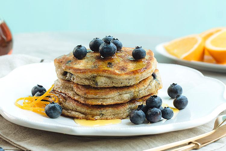 Blueberry Orange Spice Pancakes