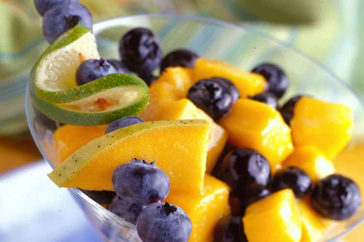 Blueberry Mango Colada Salad