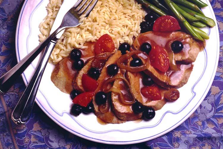 Blueberry-Onion Sauced Pork Tenderloin
