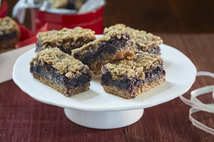 Blueberry Jam Almond Bars