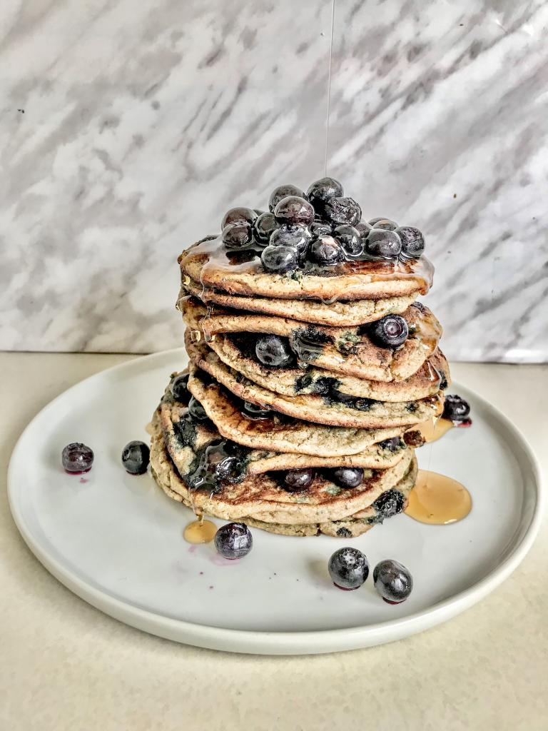 Blueberry pancake photo