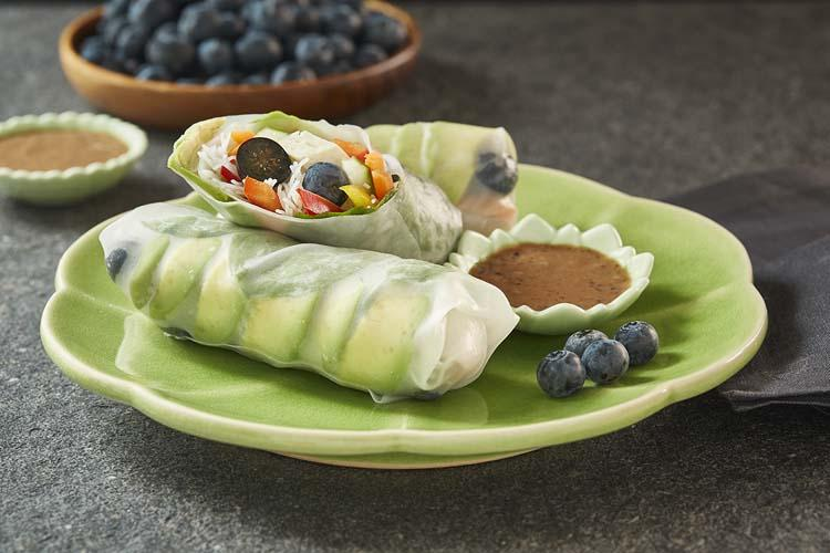 Vegetable Blueberry Summer Rolls