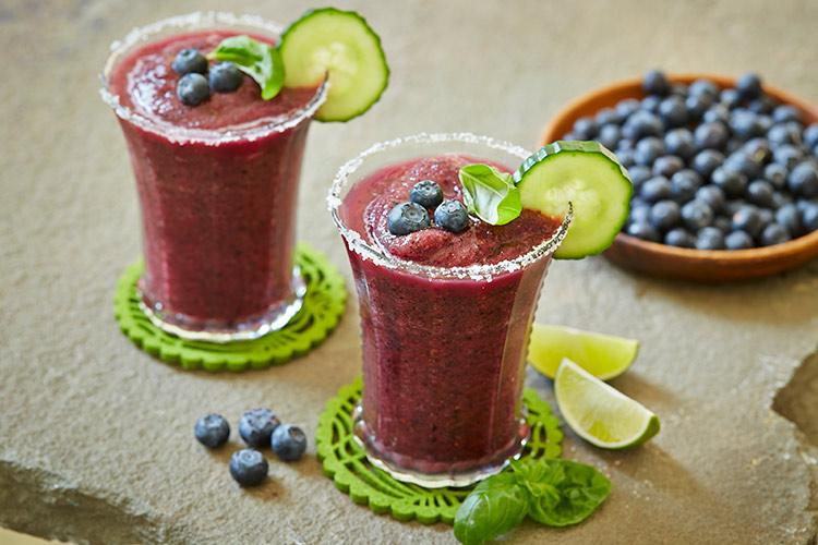 Blueberry Margarita w/Cucumber & Basil
