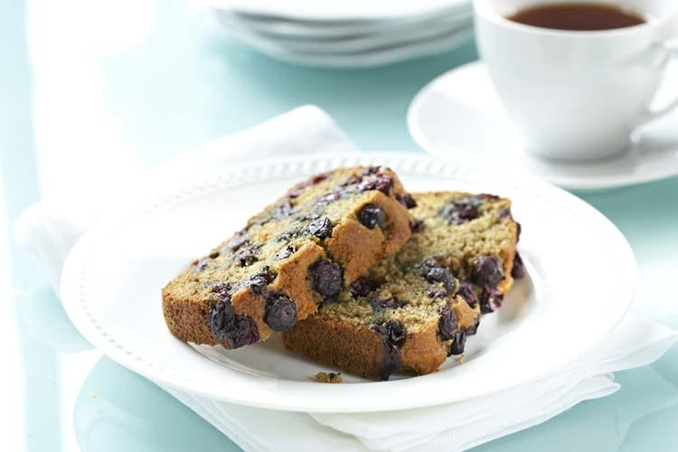 Whole Wheat Blueberry Lemon Tea Loaf