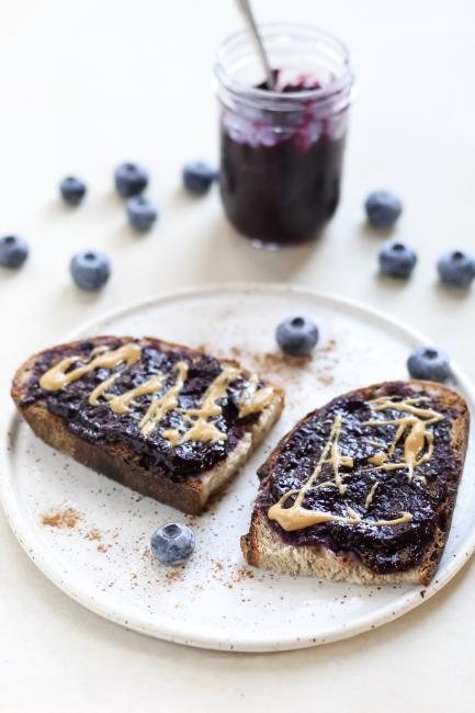 Chia Jam on Sourdough