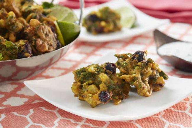 Blueberry Spinach Pakoras